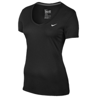 Nike Shortsleeve Legend V-Neck T-Shirt 2.0 - Women's - All Black / Black