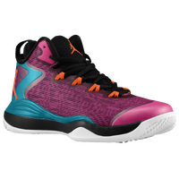 Jordan Super.Fly 3 - Boys' Grade School - Black / Pink
