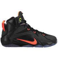Nike LeBron 12 - Boys' Grade School -  LeBron James - Black / Orange