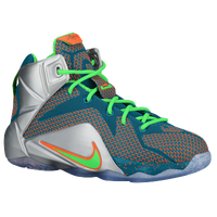 Nike Lebron 12 - Boys' Grade School - Light Blue / Light Green