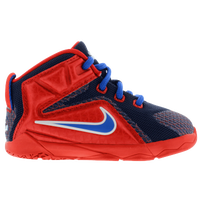 Nike LeBron 12 - Boys' Toddler -  LeBron James - Red / Navy