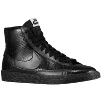 Nike Blazer Mid - Women's - All Black / Black