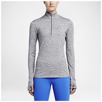 Nike Dri-FIT Element 1/2 Zip - Women's - Grey / Grey