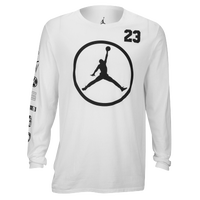 Jordan Jumpman Long Sleeve T-Shirt - Men's - White / Black