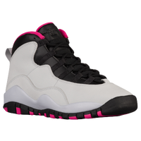 Jordan Retro 10 - Girls' Grade School - White / Pink