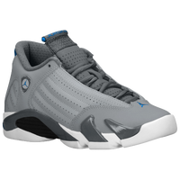 Jordan Retro 14 - Boys' Grade School - Grey / White