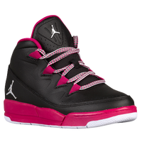 Jordan Deluxe - Girls' Preschool - Black / White