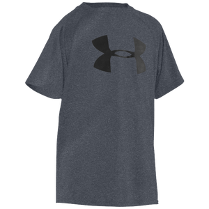 Under Armour Big Logo Tech T-Shirt - Boys' Grade School - Carbon Heather/Black