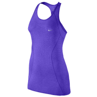 Nike Dri-FIT Knit Tank - Women's - Purple / Purple