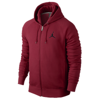 Jordan Jumpman Brushed Full Zip Hoodie - Men's - Red / Red