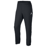 Jordan Jumpman Brushed Tapered Pants - Men's - All Black / Black