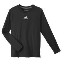 adidas Ultimate L/S T-Shirt - Boys' Grade School - All Black / Black
