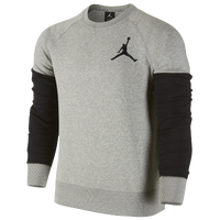 Jordan The Varsity Crew - Men's - Grey / Black