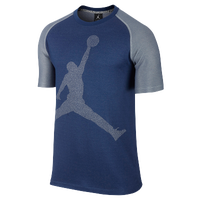 Jordan Jumbo Jumpman Top - Men's - Navy / Grey