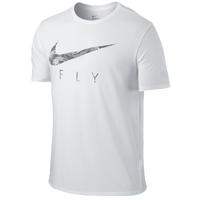 Nike Swoosh Fly T-Shirt - Men's - White / Grey