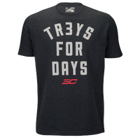 Under Armour SC30 Treys For Days T-Shirt - Men's -  Stephen Curry - Black / White