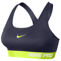 Nike Pro Padded Bra - Women's - Purple / Light Green