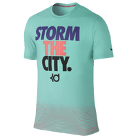 Nike KD Empire State Of Mind T-Shirt - Men's -  Kevin Durant - Aqua / Purple