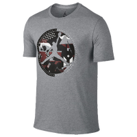 Jordan Retro 9 Globe T-Shirt - Men's - Grey / Black