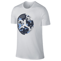 Jordan Retro 9 Globe T-Shirt - Men's - White / Navy