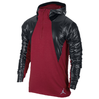 Jordan AJ Stay Warm Fitted Shield Hoodie - Men's - Red / Black