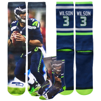 For Bare Feet NFL Sublimated Player Socks -  Russell Wilson - Seattle Seahawks - Multicolor / Multicolor