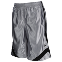 Jordan Court Vision Shorts - Boys' Grade School - Grey / Black