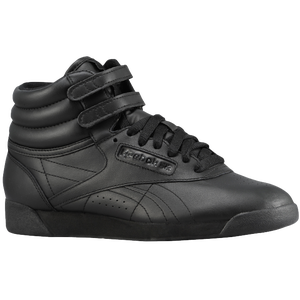 Reebok Freestyle Hi - Women's - Black/Black/Black
