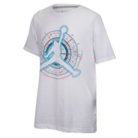Jordan Technical Flight T-Shirt - Boys' Grade School - White / Light Blue
