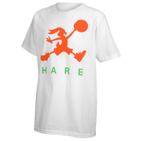 Jordan Retro 7 Hare Air T-Shirt - Boys' Grade School - White / Orange