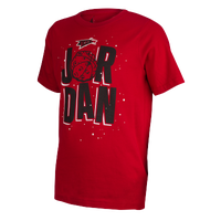Jordan WB Marvin Space T-Shirt - Boys' Grade School - Red / Black