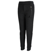 Jordan AJ Fleece Pants - Boys' Grade School - Grey / Black