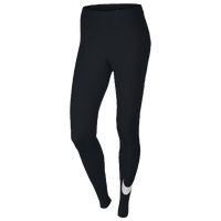 Nike Club Large Swoosh Leggings - Women's - Black / Black