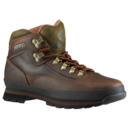 Timberland Euro Hiker - Men's - Brown / Olive Green