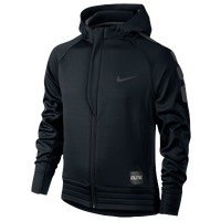 Nike Elite Stripe Full-Zip Hoodie - Boys' Grade School - Black / Grey