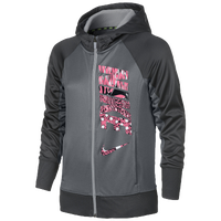 Nike KO 3.0 Full-Zip Hoodie - Girls' Grade School - Grey / Pink