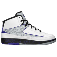 Jordan Retro 2 - Boys' Preschool - White / Purple