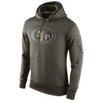 Nike NFL STS Camo Logo KO Pull-Over Hoodie - Men's - San Francisco 49ers - Tan / Black