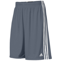 adidas Practice Shorts - Men's - Grey / White