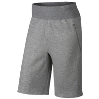 Jordan Fleece Shorts - Men's - Grey / Grey
