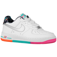 Nike Air Force 1 Low - Boys' Grade School - White / Silver