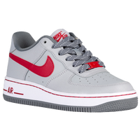 Nike Air Force 1 Low - Boys' Preschool - Grey / Red