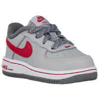 Nike Air Force 1 Low - Boys' Toddler - Grey / Red