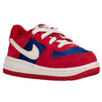 Nike Air Force 1 Low - Boys' Toddler - Red / Off-White
