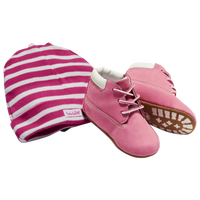 Timberland Crib Booties - Girls' Infant - Pink / White