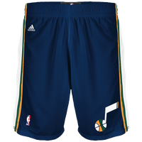 adidas NBA Swingman Shorts - Men's - Utah Jazz - Navy / Gold