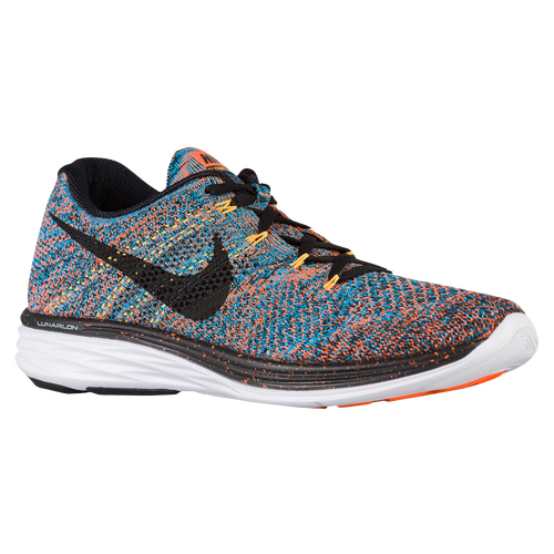 half off 0eddd 1bb6c Nike Flyknit Lunar 3 - Men s - Running - Shoes - Total Orange Blue  Lagoon Laser Orange Black