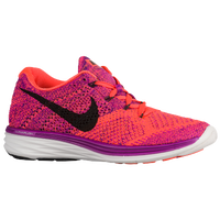 Nike Flyknit Lunar 3 - Women's - Purple / Orange