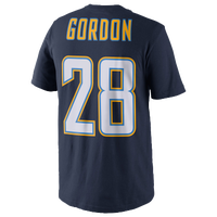 Nike NFL Player T-Shirt - Men's -  Melvin Gordon - San Diego Chargers - Navy / White