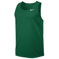 Nike Team Miler Tank II - Men's - Dark Green / White